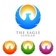 Eagle logo emplate, falcon, hawk vector logo design Piirros