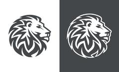Lion head vector logo design, abstract lion logo, tiger logo Stock Illustration