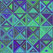 Green blue triangle mosaic background design Stock Illustration