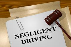 Negligent Driving - legal concept Stock Illustration