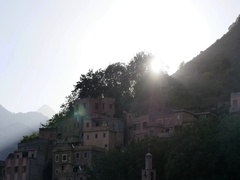 4K Morroco sunrise in the mountins Stock Footage