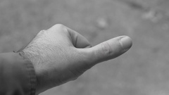Hurt thumb throbing pain sprained Stock Footage