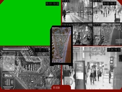 Surveillance - Green Screen - location - Monitor - red Stock Footage