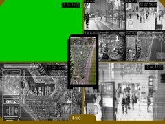 Surveillance - Green Screen - location - Monitor - yellow Stock Footage
