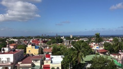 Skyline of  the Miramar residential district (Playa municipality). Havana Stock Footage
