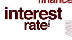 Interest rate animated word cloud. Stock Footage