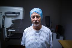 Portrait of patient in x-ray room Stock Photos