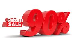 Christmas sale. Discount ninety percent off Stock Illustration