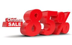 Christmas sale. Discount eighty five percent off Stock Illustration