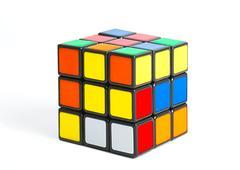 Rubik's cube on white Stock Photos