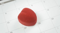 Valentine day calendar angled ring Stock Footage