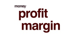Profit margin animated word cloud. Stock Footage