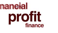 Profit animated word cloud. Stock Footage