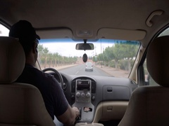 4K Driving on a main road in Morocco Stock Footage