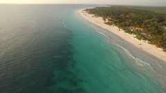 Aerial view of a caribbean beach Stock Footage