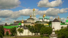 Trinity Lavra of Sergius, Sergiyev Posad, Russia Stock Footage
