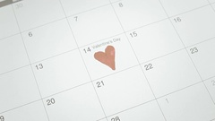 Valentine day calendar diamonds Stock Footage