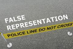 False Representation concept Stock Illustration