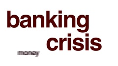 Banking crisis animated word cloud. Stock Footage