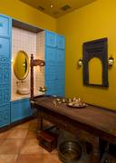 Cabinet for  indian ayurvedic  massage Stock Photos