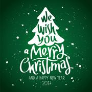 We wish you a Merry Christmas Stock Illustration