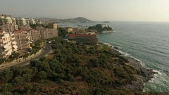 General view of the stunning tropical resort in Kusadasi, Turkey's Aegean coast Stock Footage