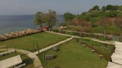 Amazing aerial view of the tropical resort and sea Kusadasi, Turkey Stock Footage