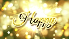 Golden Happy New Year 2017 Stock Footage