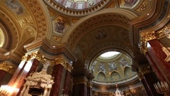 Saint Stephen's Basilica in Budapest Stock Footage