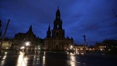 The Hofkirche, Dresden Stock Footage