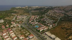 Beautiful aerial view of the tropical resort and sea Kusadasi, Turkey Stock Footage