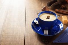 Empty cup of coffee on wood Stock Photos