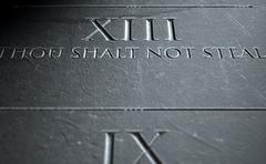 The Eighth Commandment Stock Illustration