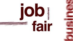 Job fair animated word cloud. Stock Footage