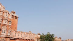 Hawa Mahal palace (Palace of the Winds) in Jaipur, India Stock Footage