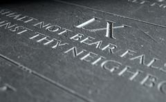 The Ninth Commandment Stock Illustration