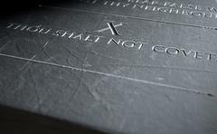 The Tenth Commandment Stock Illustration