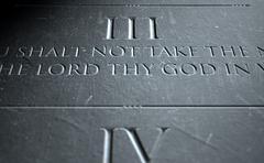 The Third Commandment Stock Illustration