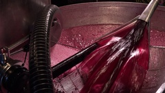 FPV 02364 Grape Harvest Machine - Bordeaux Vineyard Stock Footage