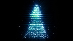 Christmas Tree Looped Background. Stock Footage