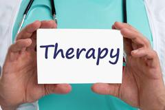 Therapy disease ill illness healthy health doctor Stock Photos