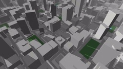 3D City Map fly through Stock Footage