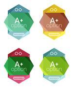 Geometric option infographic templates Stock Illustration