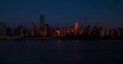 New York City Skyline Sunrise, 4K Timelapse NYC In Winter Stock Footage