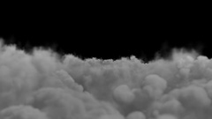 Flying in thunderclouds with alpha channel Stock Footage