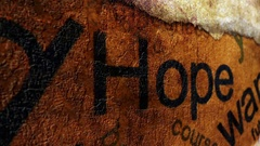 I want hope concept Stock Footage