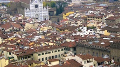 Beautiful aerial view of Florence from the observation platform of Duomo Stock Footage