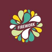Vector logo firework Piirros
