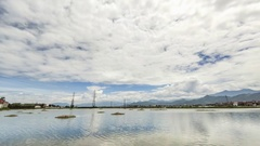 Timelapse of epic cloud movement, in the top the cloud is moving fast Stock Footage