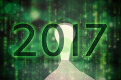 Composite image of 2017 Stock Illustration